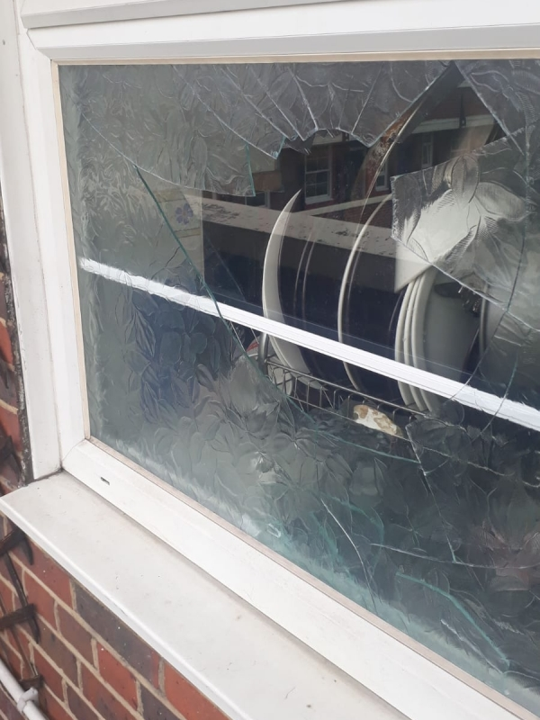 Shattered Double Glazed Window Repair