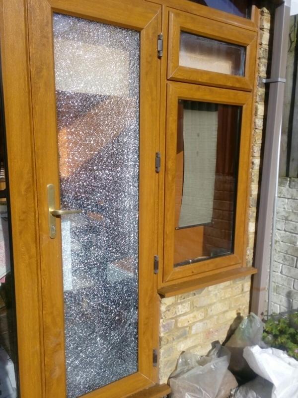 Shattered Door Glass Repair